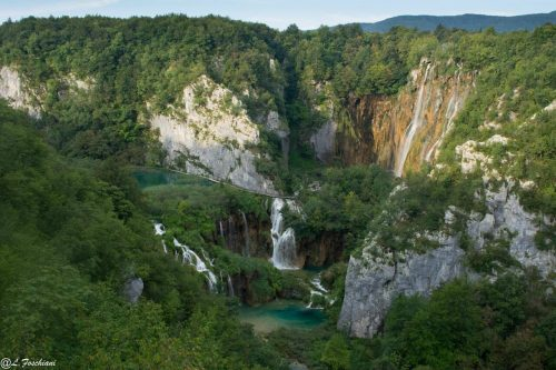 Panorama grande chute de Plitvice