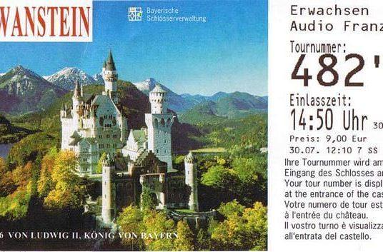 Comment acheter ou réserver son billet pour visiter le château de Neuschwanstein?