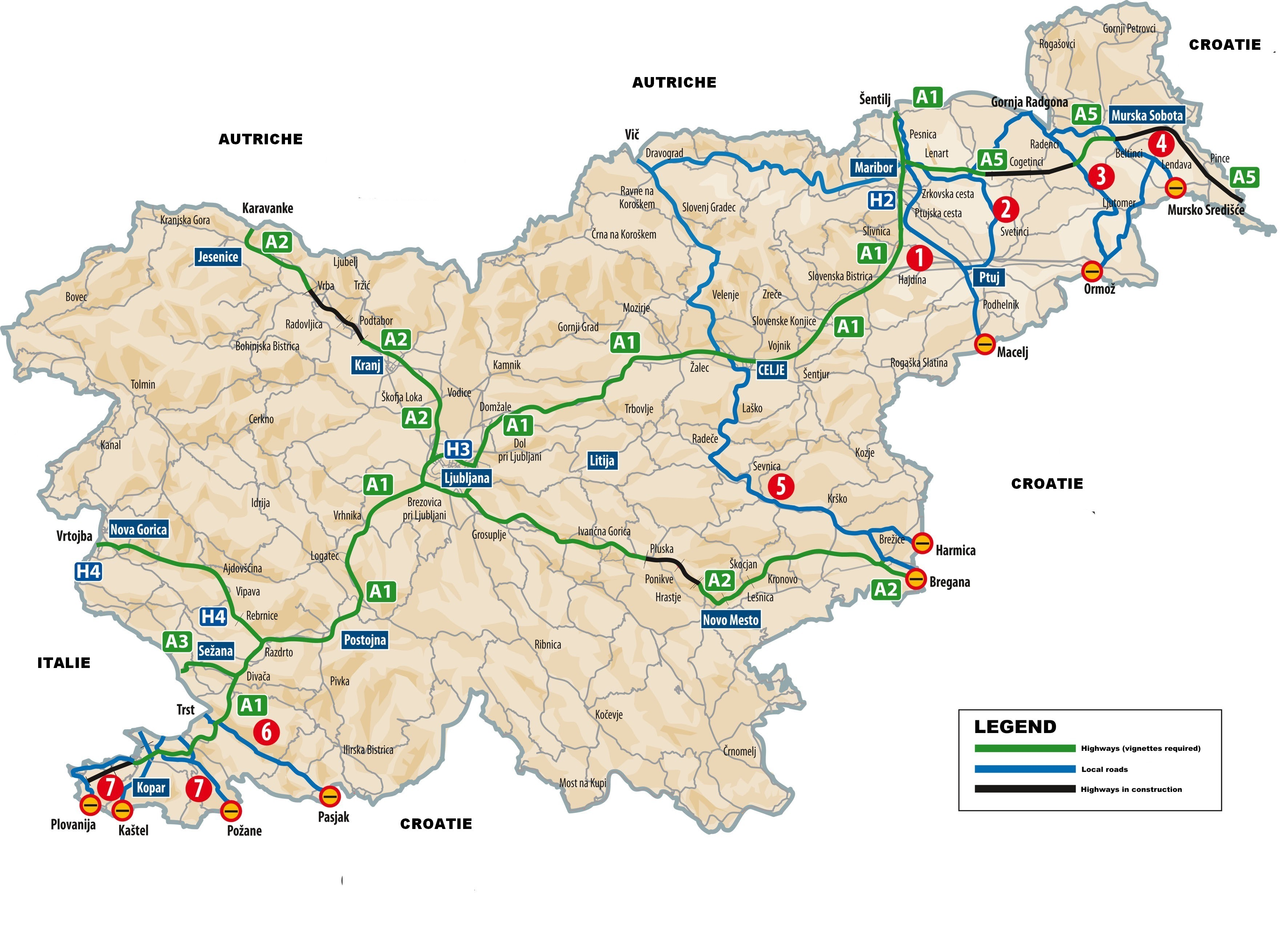 Carte Routiere Suisse Italie.Vignette Autoroute En Slovenie Vinjeta Slovenija