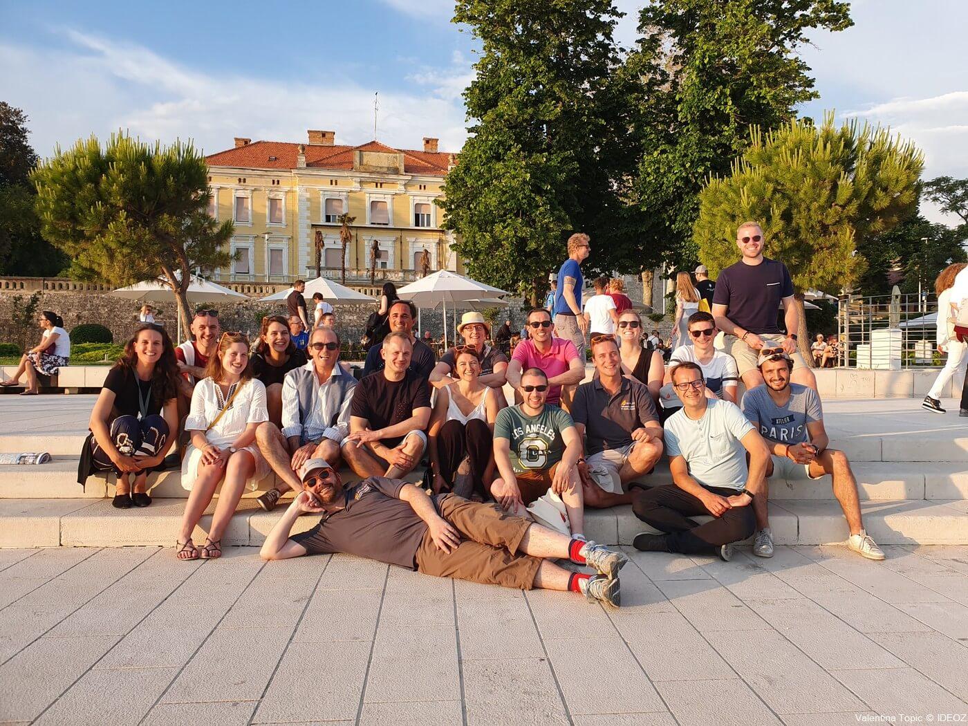 groupe en visite à zadar avec Valentina topic visite guidée de zadar (1)