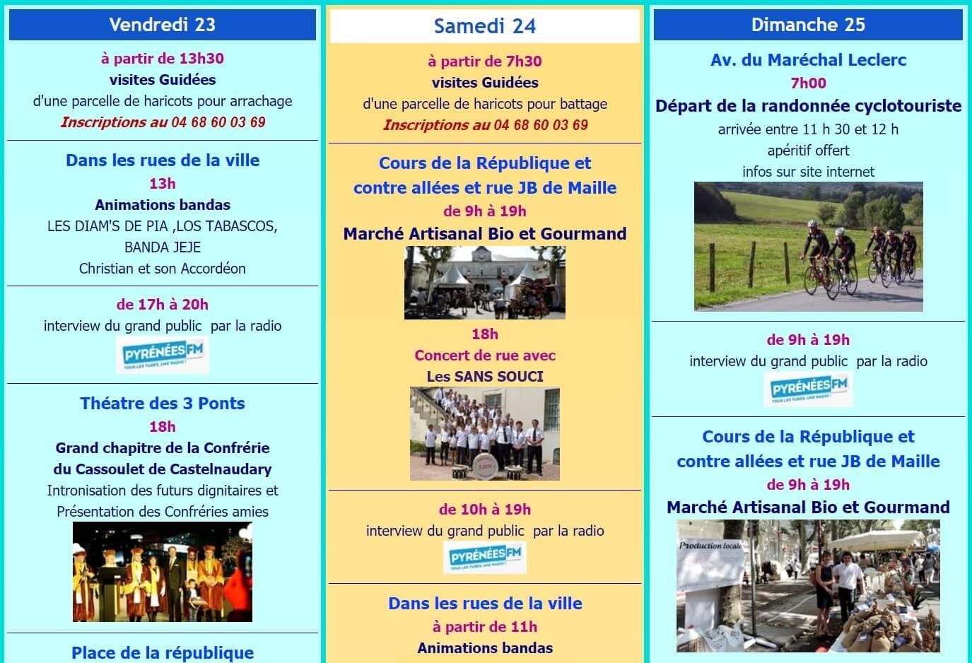 programme fête du cassoulet castelnaudary 2019 vendredi à dimanche (1)
