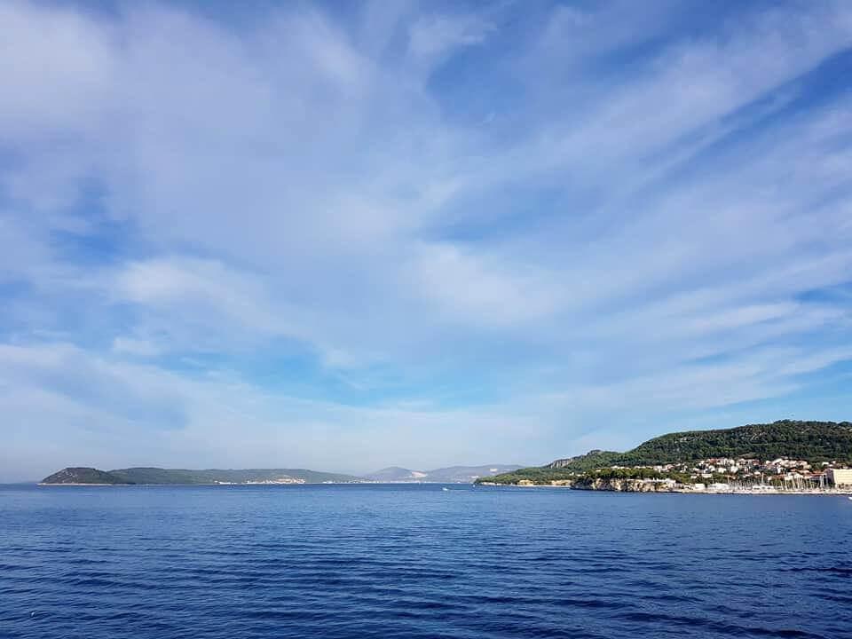 A l'approche de l'ile de Brac
