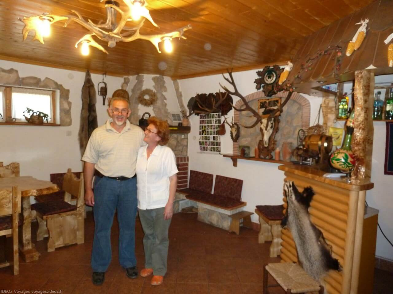 Branko et Sonja Sokac dans l'auberge Mrzlin grad