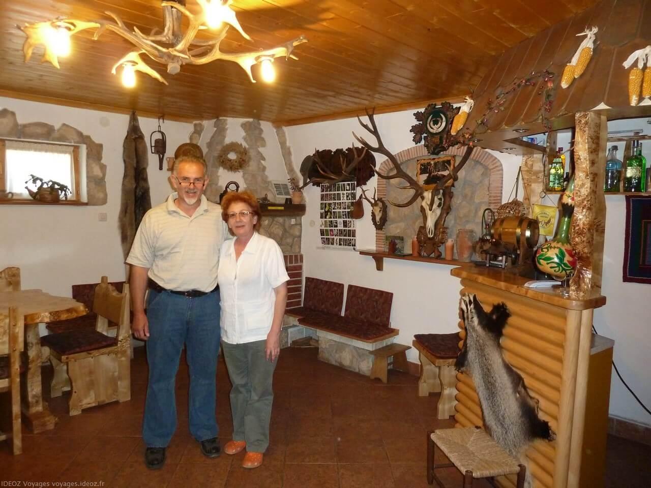 Branko et Sonja propriétaires de la pansion Mrzlin grad