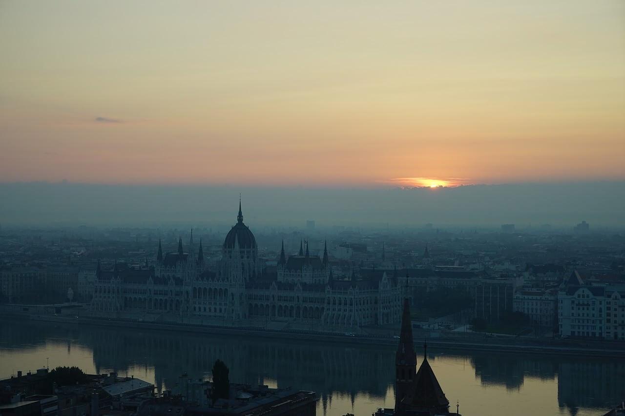 Budapest coucher du soleil