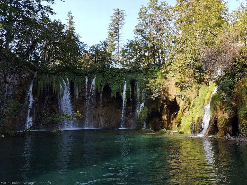 Cascades à Plitvice en septembre