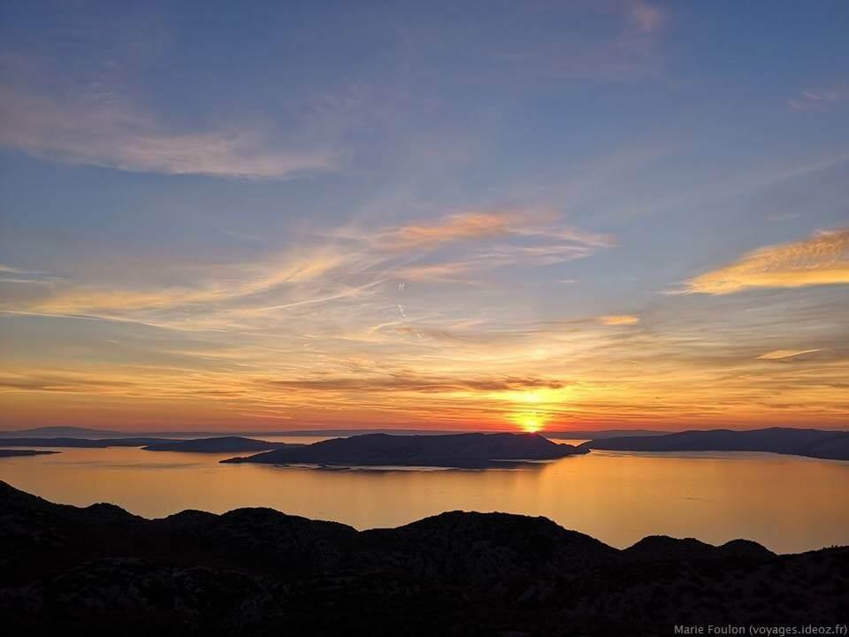 Coucher de soleil sur les iles dalmates