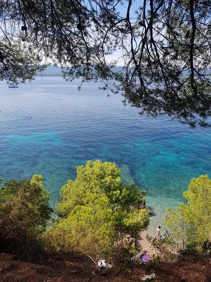 Crique à Brac en Dalmatie