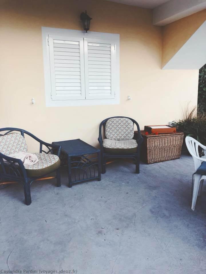 espace détente à la villa mélanie en Croatie