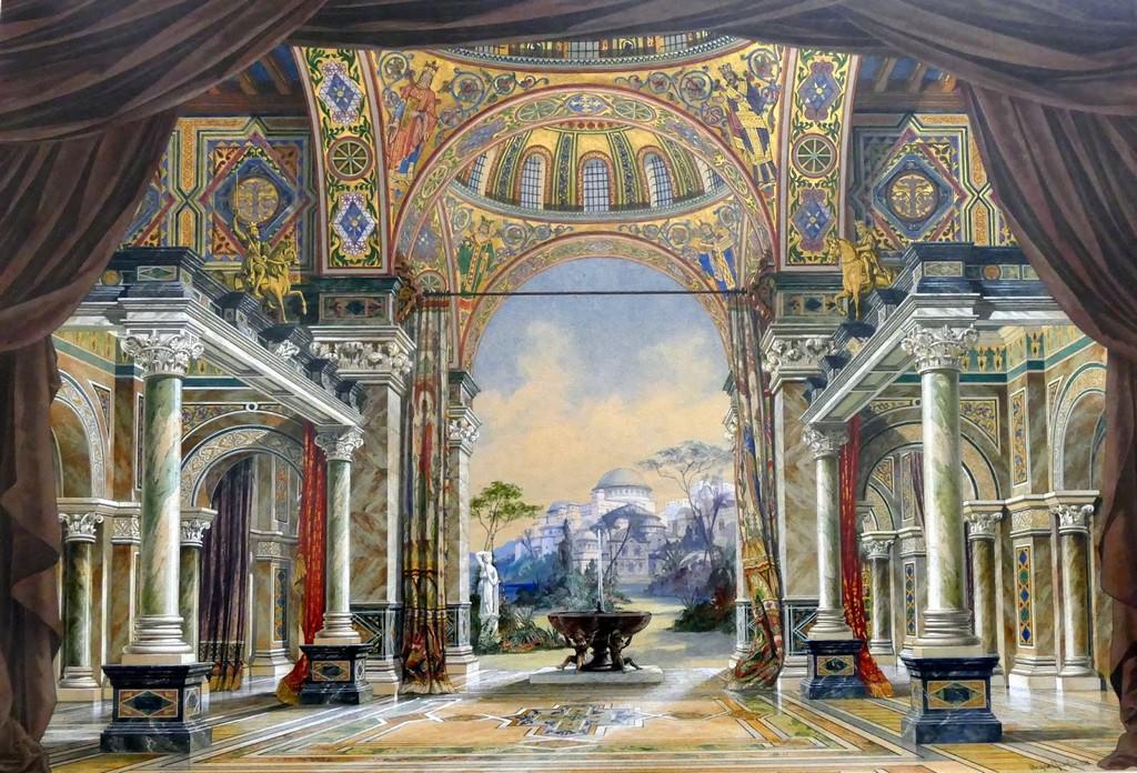Grand hall du palais de Justinien à Constantinople