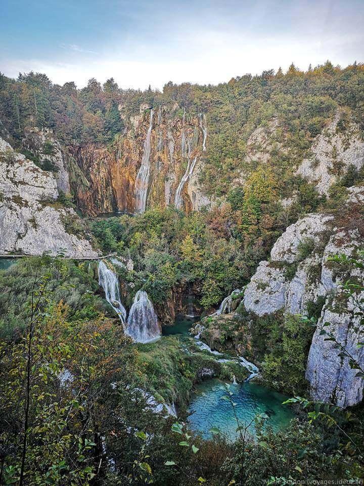 Grande chute de Plitvice en septembre