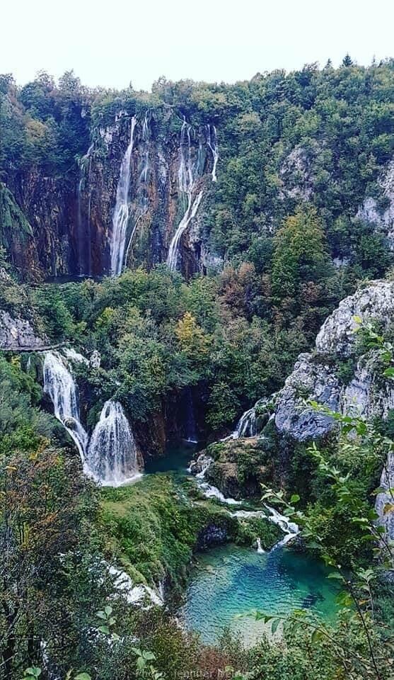 Grande chute du parc de Plitvice