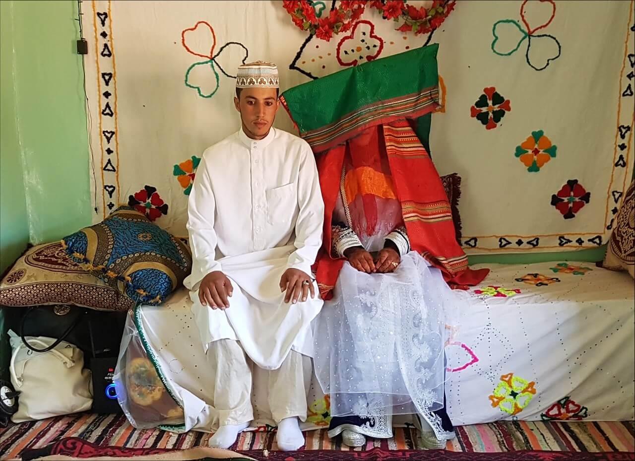 Jeunes mariés berbères nomades bergers