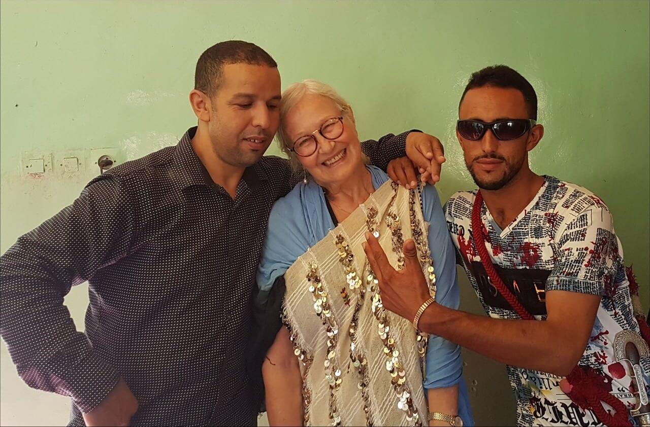 Michèle Jullian lors d'un mariage berbère au maroc