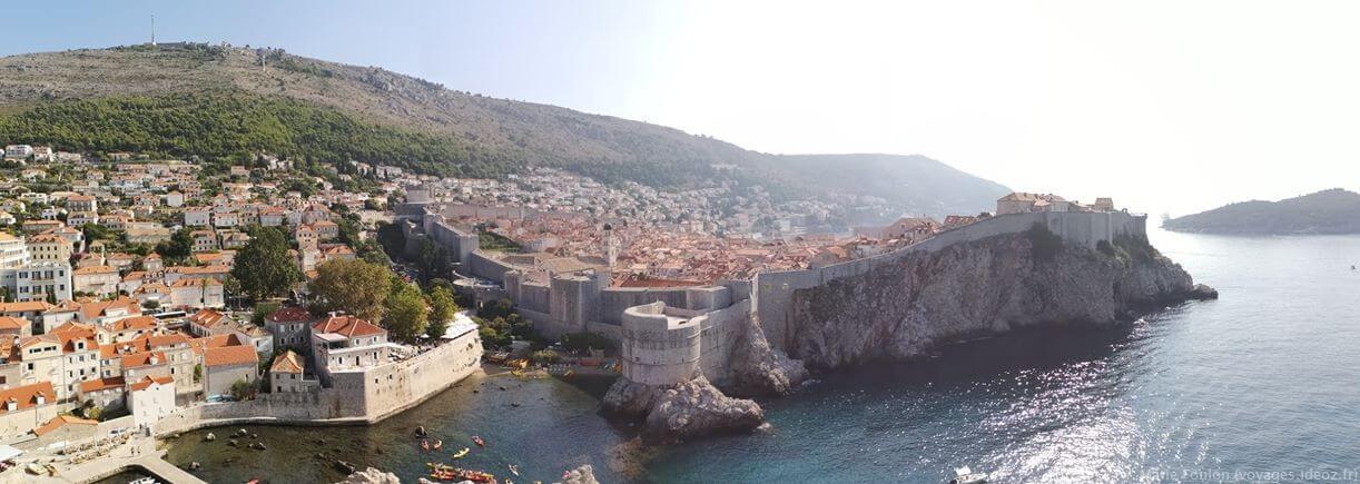 Panorama sur la vieille ville Dubrovnik