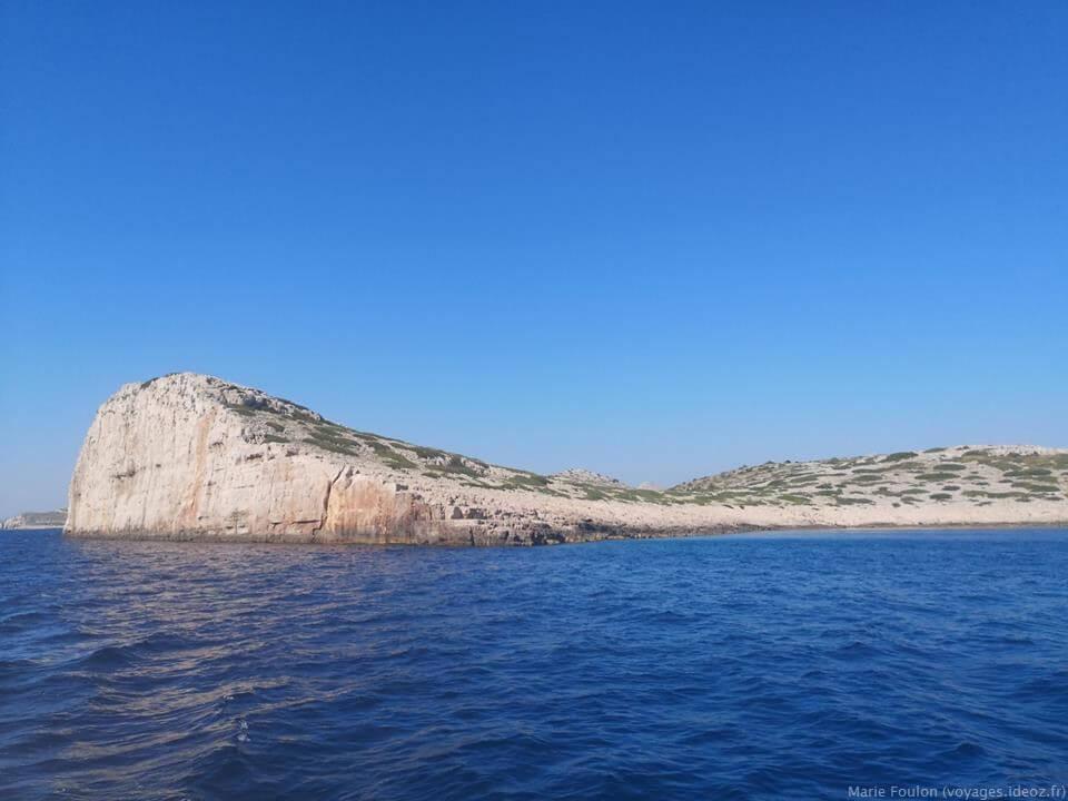 Paysages de falaises dans les îles Kornati