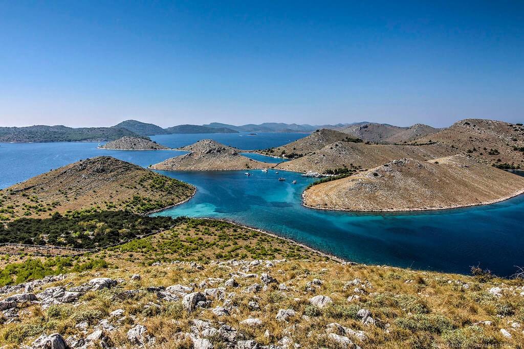Paysages et criques des iles Kornati