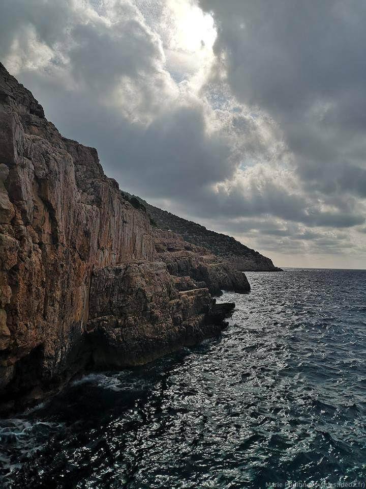 Rochers sur l'Adriatique en Croatie
