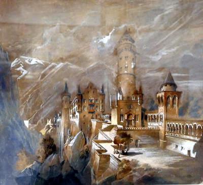 Vue idéalisée de Neuschwanstein par Christian Jank