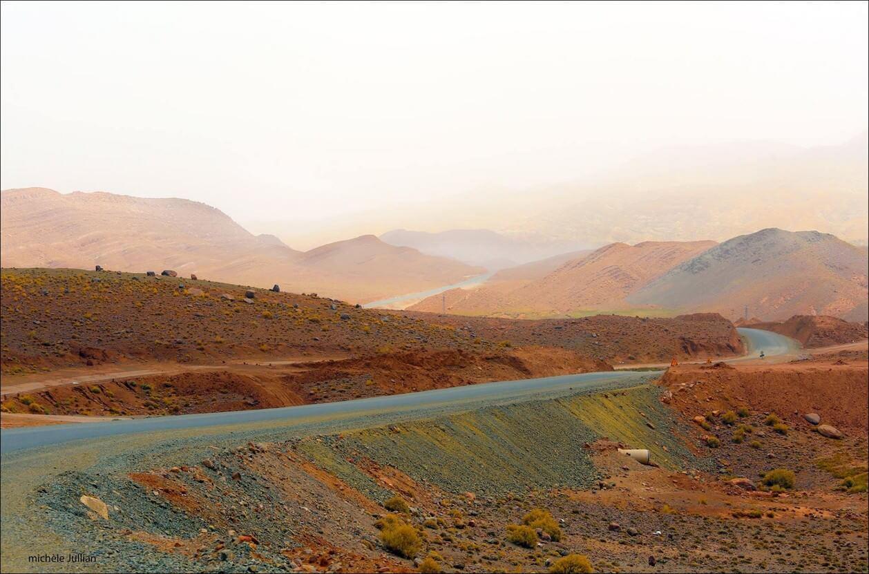 brume de chaleur entre Marrakech et Ouarzazate