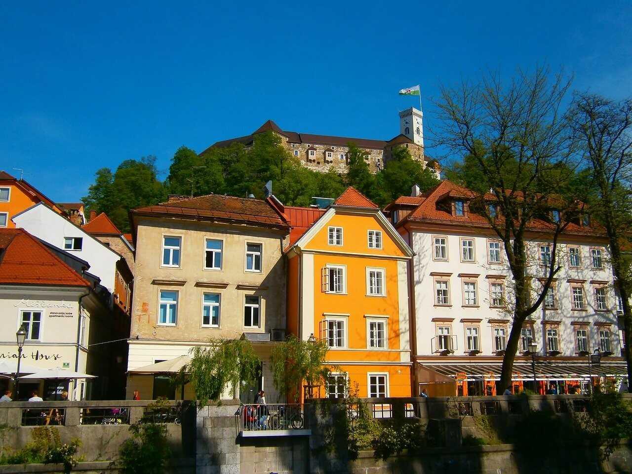 chateau et vieille ville historique de Ljubljana