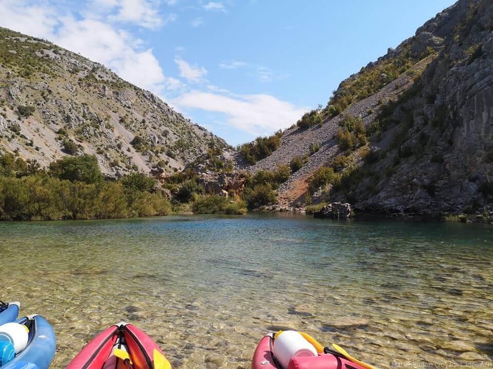 kayak sur la riviere Zrmanja