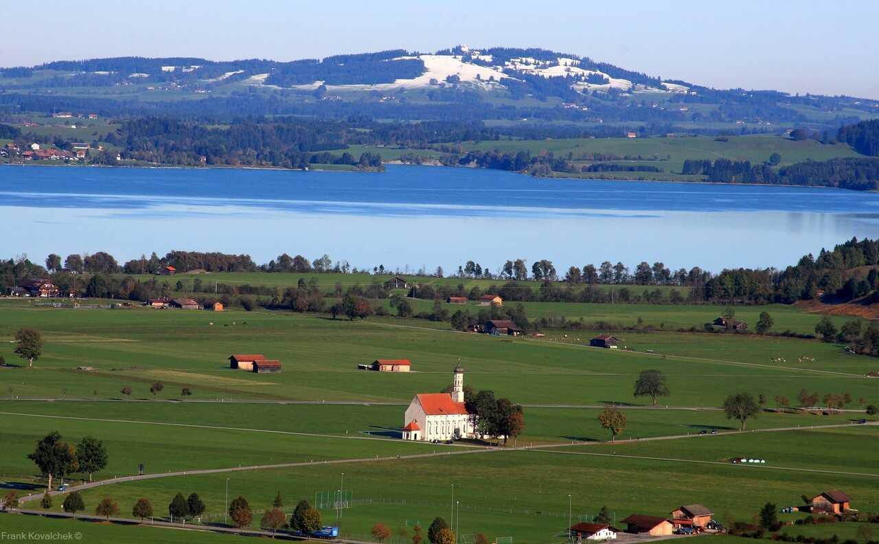 lac forggensee près de neuschwanstein