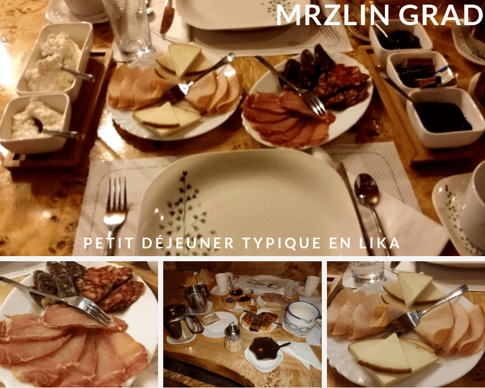 petit déjeuner à Mrzlin grad à Plitvice