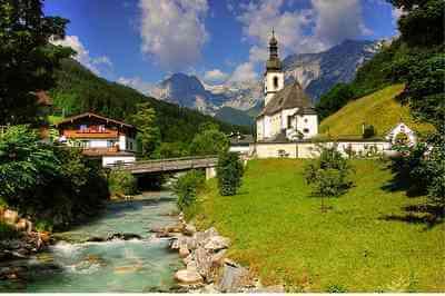 Eglise de Ramsau en Bavière