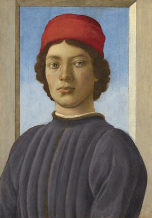 Filippino Lippi - Portrait d'un jeune homme (vers 1485) © National Gallery of Art,  Washington, Andrew W. Mellon Collection