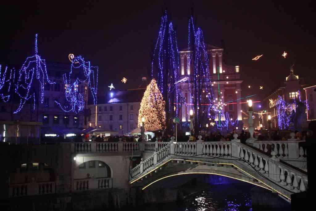 Illuminations de Noël à Ljubljana