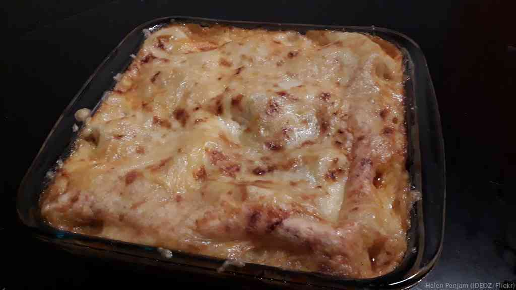 Makaronilaatikko gratin de macaronis finlandais au fromage