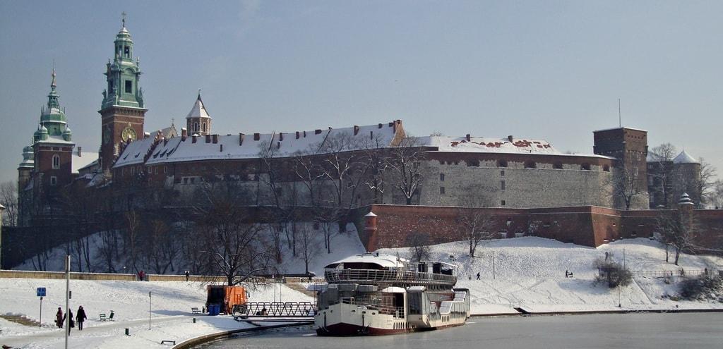 Wawel sous la neige Cracovie en hiver