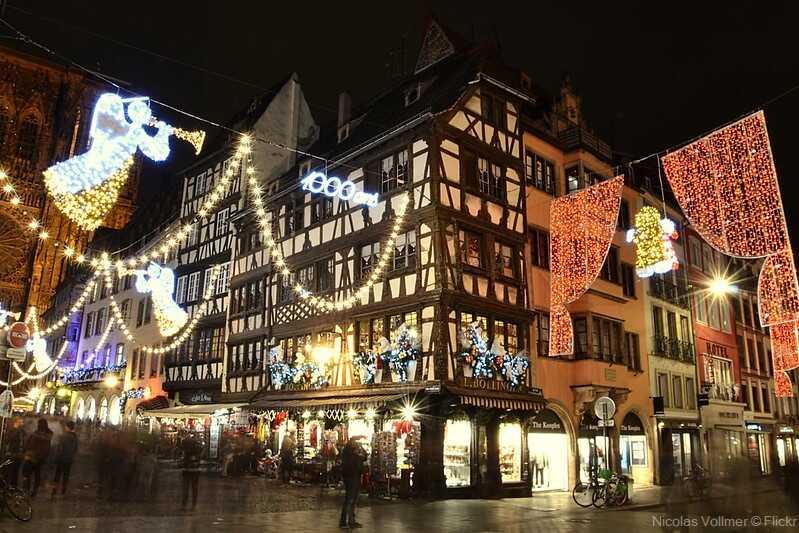 illuminations et décorations de noel dans le centre historique de strasbourg
