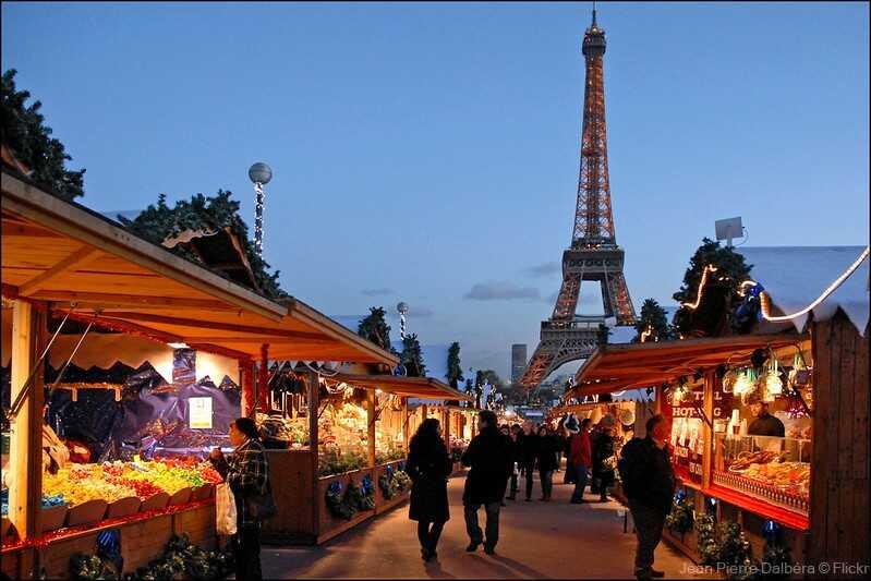 marché de noel européen du trocadéro à paris