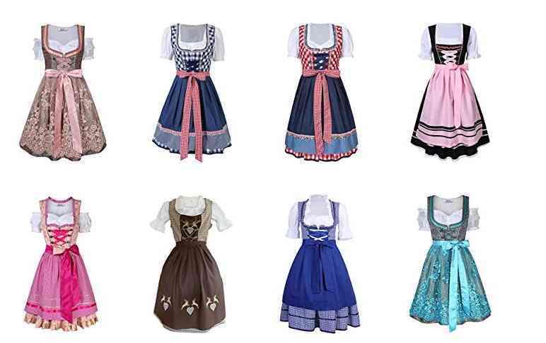 modèles de robes bavaroises dirdnl classiques