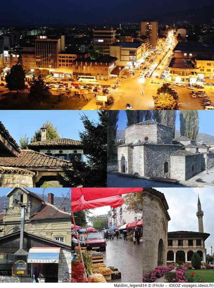 vues de Tetovo en Macédoine