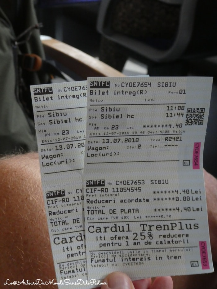 Billet de train pour Sibiu