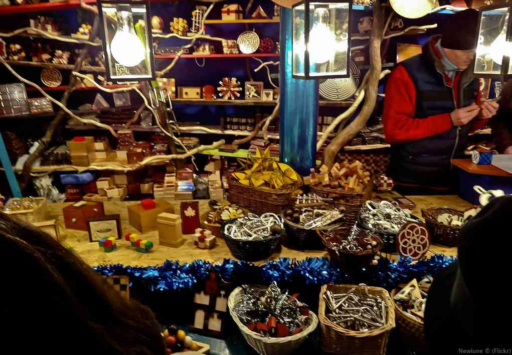 jouets artisanaux sur le marché de noël de Nuremberg