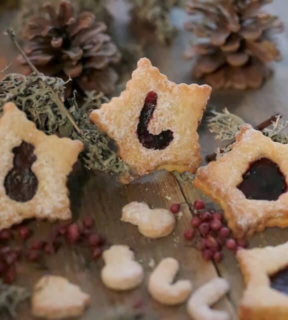 Linzer augen biscuits de NoËL inspirés de la Linzer torte