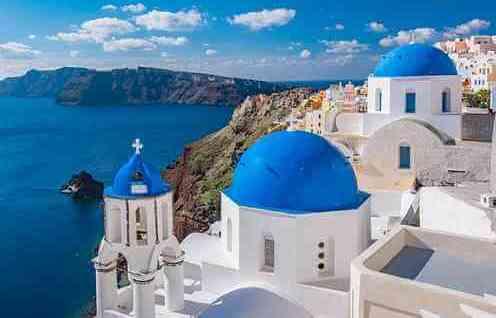 village des îles grecques