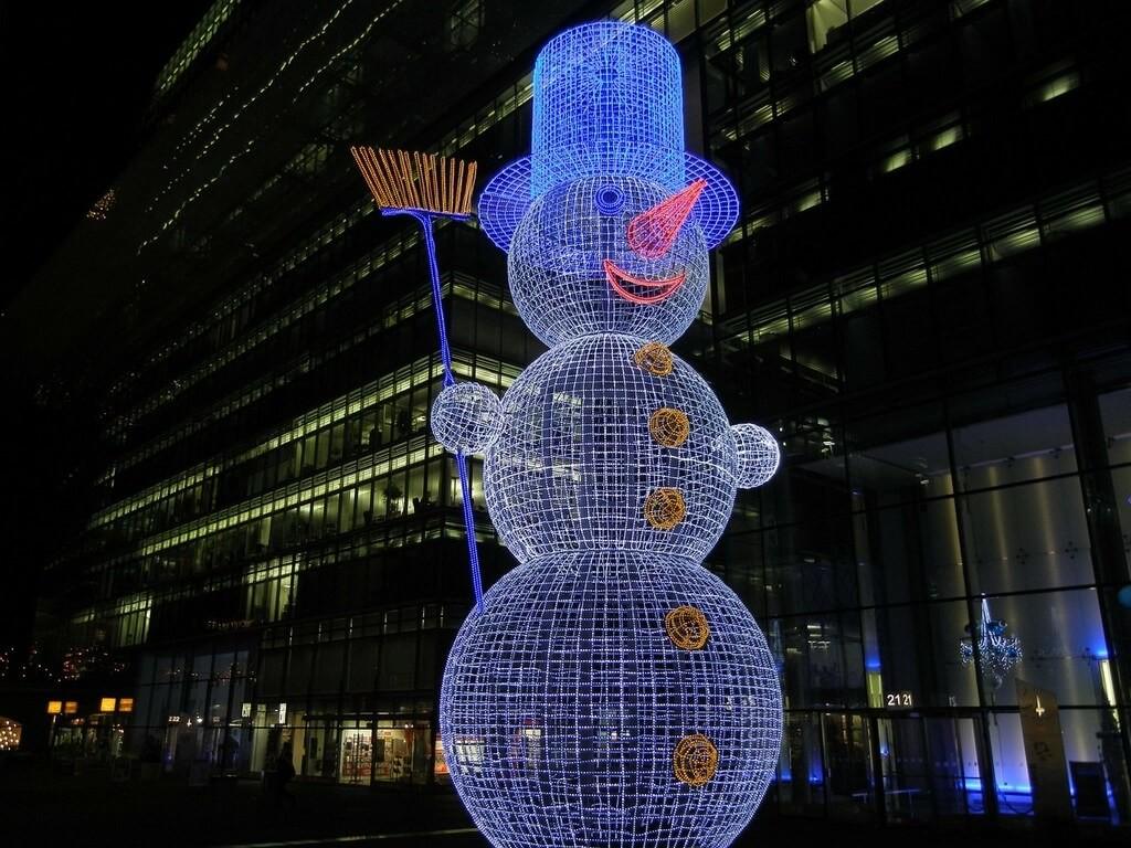 Bonhomme de neige lumineux décorations de Noël à Berlin