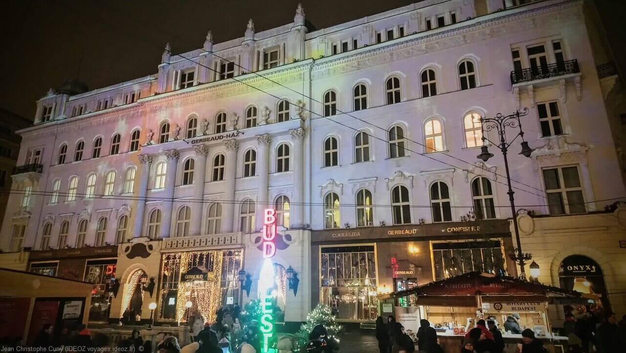 Gerbeaud Haz décorations de noel à Budapest