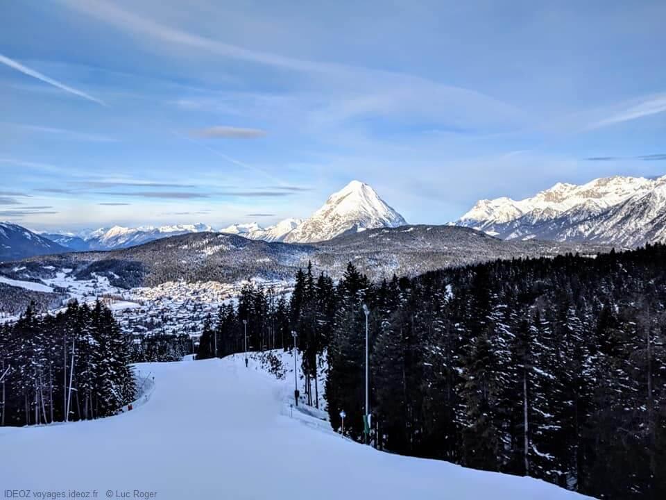 Piste de ski à Seefeld au Tyrol