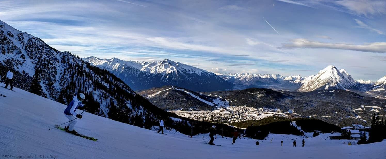 Seefeld piste de ski au Tirol autrichien