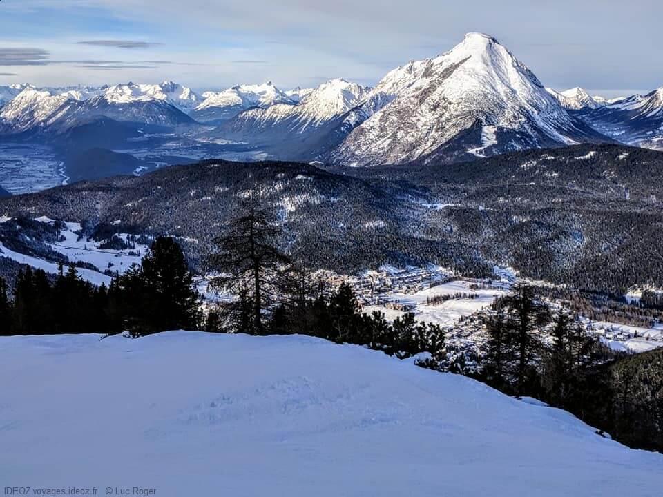 Seefeld piste et montagnes du Tyrol en Autriche