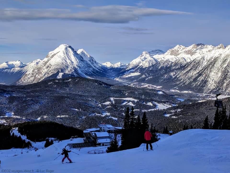 Seefeld pistes de ski au Tyrol autrichien