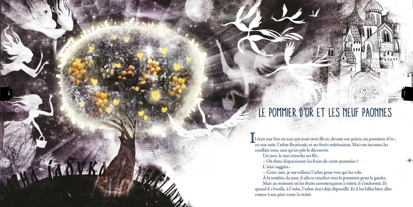le pommier d'or et les neuf paonnes contes populaires serbes