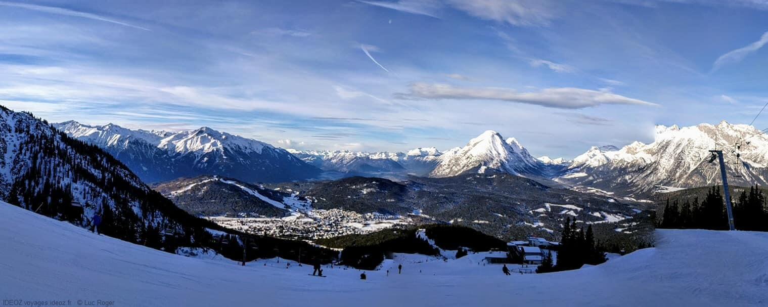 panorama sur les pistes de Seefeld Tirol