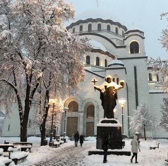 sveti sava sous la neige